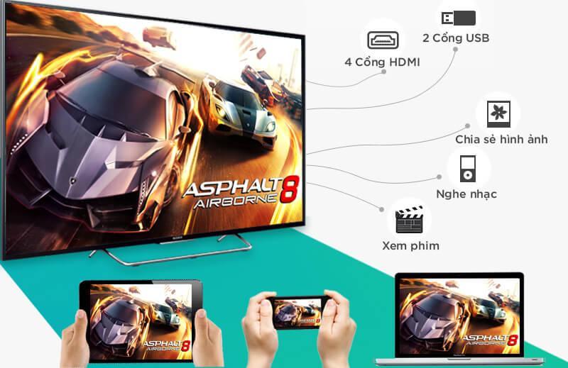Internet TV LED Sony 48W700C 48 inch b