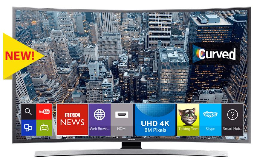 Smart TV Curved Samsung UA65JU6600 a