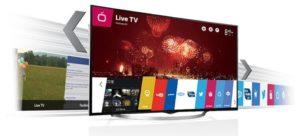 Smart TV LED LG 65UG870T 65 inch black
