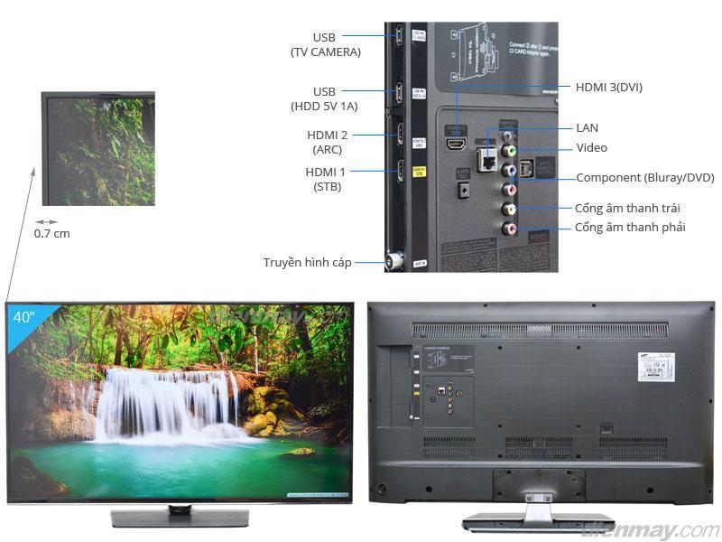 TV LED Samsung UA40H5510 tot