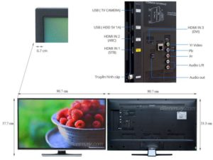 TV LED Samsung UA40H5562 dep